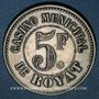 Monnaies Royat (63). Casino Municipal. 5 francs. Maillechort