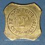 Monnaies Saint-Etienne (42). Café J. Seyre Fils Ainé à Bérard - Vins en Gros. 12 centimes 1/2