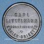 Monnaies Schiltigheim (67). Karl Litzelmann - Kohlen Briketts (briquettes de charbon). sans valeur. Zinc