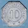 Monnaies Sélestat (67). 10 (pfennig) 1917