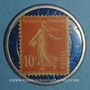 Monnaies Société Générale. 10 centimes (rouge/bleu)
