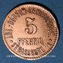 Monnaies Strasbourg (67). Arb. Consum Genossenschaft. 5 pfennig
