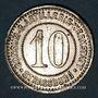 Monnaies Strasbourg (67). Consum-Genossenschaft Artillerie Werkstadt. 10 (pfennig)