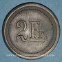 Monnaies Strasbourg (67). Fr. Mutschler (restaurant Grande Taverne Vignette). 2 francs