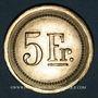 Monnaies Strasbourg (67). Fr. Mutschler (restaurant Grande Taverne Vignette). 5 francs