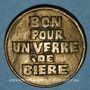 Monnaies Strasbourg (67). Société de tir. 1 verre de bière