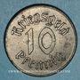 Monnaies Strasbourg (67). Ville. 10 pfennig 1918. Fer