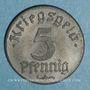 Monnaies Strasbourg (67). Ville.  5 pfennig 1918. Fer