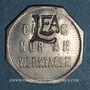 Monnaies Thionville (57). Lothringische Eisenbahn Aktiengesellschaft. (10 pf). LE.A contremarqué