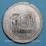 Monnaies Toulon (83). Café du Centre - J. B. 30 centimes