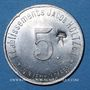 Monnaies Unieux (42). Etablissements Jacob Holtzer. 5 centimes, contremarque cloche