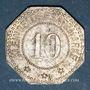 Monnaies Wissembourg (67). Ville. 10 pfennig 1917. Fer