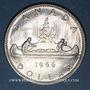 Monnaies Canada. Elisabeth II (1952- /). 1 dollar 1966