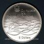 Monnaies Canada. Elisabeth II (1952- /). 5 dollars 1975. J.O. Montréal. Natation