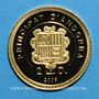 Monnaies Andorre. 2 diner 2009 Charlemagne. 999/1000. 0,73 g.
