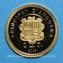 Monnaies Andorre. 2 diner 2009 Charlemagne. (PTL 999‰. 0,73 g)