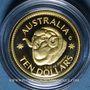 Monnaies Australie. Elisabeth II (1952- ). 10 dollars 2011. Ram's head dollar. (PTL 999,9‰. 3,10 g)