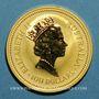 Monnaies Australie. Elisabeth II (1952- ). 100 dollars 1990. Red kangaroo. (PTL 999/1000. 31,10 g)