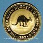 Monnaies Australie. Elisabeth II (1952- ). 100 dollars 1992. Common Wallaroo. (PTL 999‰. 31,10 g)
