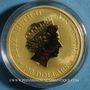 Monnaies Australie. Elisabeth II (1952- ). 100 dollars 2018 P. Kangaroo. (PTL 999‰. 31,10 g)