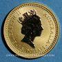 Monnaies Australie. Elisabeth II (1952 --). 15 dollars 1991. Grey kangaroo. (PTL 999‰. 3,11 g)