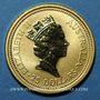 Monnaies Australie. Elisabeth II (1952- ). 25 dollars 1991. Grey kangaroo. (PTL 999‰. 7,75 g)