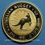 Monnaies Australie. Elisabeth II (1952- ). 25 dollars 1991. Grey kangaroo. (PTL 999/1000. 7,75 g)