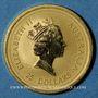 Monnaies Australie. Elisabeth II (1952- ). 25 dollars 1998, deux kangourous. (PTL 999‰. 7,75 g)