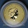 Monnaies Australie. Elisabeth II (1952- ). 5 dollars 2017. Année du coq. (PTL 999,9‰. 1,55 g)
