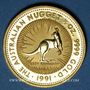Monnaies Australie. Elisabeth II (1952- ). 50 dollars 1991. (PTL 999‰. 15,50 g)