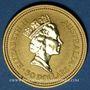 Monnaies Australie. Elisabeth II (1952- ). 50 dollars 1991. (PTL 999/1000. 15,50 g)