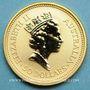 Monnaies Australie. Elisabeth II (1952- ). 50 dollars 1992. (PTL 999/1000. 15,50 g)