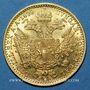 Monnaies Autriche. François Joseph (1848-1916). 1 ducat 1899. (PTL 986/1000. 3,49 g)