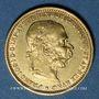 Monnaies Autriche. François Joseph (1848-1916). 20 couronnes 1893. (PTL 900/1000. 6,78 g)