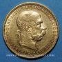 Monnaies Autriche. François Joseph (1848-1916). 20 couronnes 1896. (PTL 900/1000. 6,78 g)