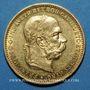 Monnaies Autriche. François Joseph (1848-1916). 20 couronnes 1897. (PTL 900/1000. 6,78 g)
