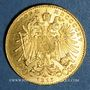 Monnaies Autriche. François Joseph (1848-1916). 20 couronnes 1915. Refrappe. 900 /1000. 6,77 gr