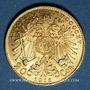 Monnaies Autriche. François Joseph (1848-1916). 20 couronnes 1915. Refrappe. (PTL 900/1000. 6,78 g)