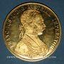 Monnaies Autriche. François Joseph (1848-1916). 4 ducats 1915. Refrappe. (PTL 986/1000. 13,96 g)