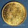 Monnaies Autriche. François Joseph (1848-1916). 8 florins/20 francs 1892. Refrappe. (PTL 900/1000. 6,45 g)