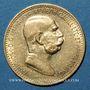 Monnaies Autriche. François Joseph I (1848-1916). 10 couronnes 1909. (PTL 900/1000. 3,39 g)