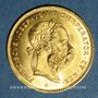 Monnaies Autriche. François Joseph I (1848-1916). 4 florins /10 franken 1892. Refrappe. 900 /1000. 3,22 gr