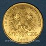 Monnaies Autriche. François Joseph I (1848-1916). 4 florins/10 franken 1892. Refrappe. (PTL 900/1000. 3,22 g)