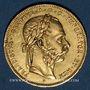 Monnaies Autriche. François Joseph I (1848-1916). 8 florins / 20 francs 1870. (PTL 900/1000. 6,45 g)