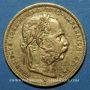 Monnaies Autriche. François Joseph I (1848-1916). 8 florins / 20 francs 1880. (PTL 900/1000. 6,45 g)