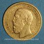Monnaies Bade. Frédéric I, grand duc (1856-1907). 10 mark 1872 G. (PTL 900‰. 3,98 g)