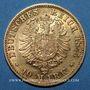 Monnaies Bade. Frédéric I, grand duc (1856-1907). 10 mark 1875 G. (PTL 900‰. 3,98 g)