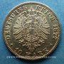 Monnaies Bade. Frédéric I, grand duc (1856-1907). 10 mark 1877 G. (PTL 900‰. 3,98 g)