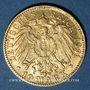 Monnaies Bade. Frédéric I, grand duc (1856-1907). 10 mark 1891 G. (PTL 900‰. 3,98 g)