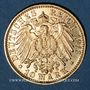 Monnaies Bade. Frédéric II (1907-1918). 10 mark 1913G. (PTL 900/1000. 3,98 g)